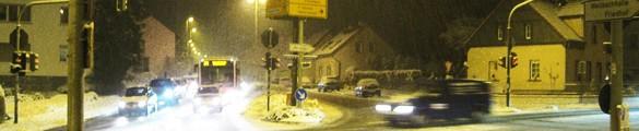 Verkehrsknotenpunkt in Weilbach