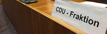 Positionen der CDU zu den Tagesordnungspunkten der letzten Stadtverordnetenversammlung