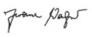 Unterschrift Jerome Wagner