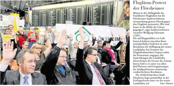 Pressespiegel zur Sondersitzung der Stadtverordnetenversammlung: Mit Klappstühlen ins Terminal 1