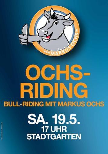 Impressionen des Ochs-Ridings