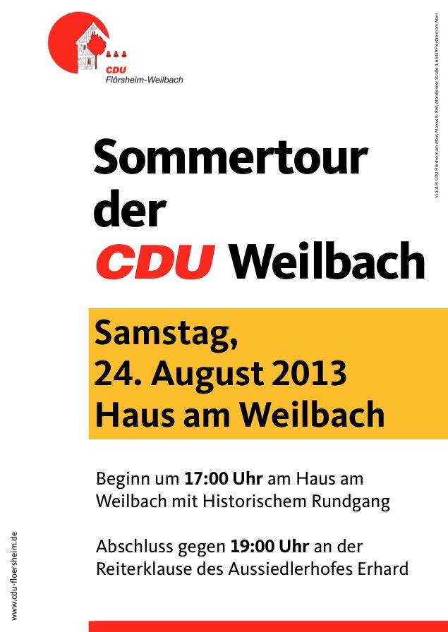 CDU lädt zur Sommertour in Weilbach