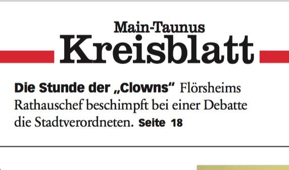 """Höchster Kreisblatt: Antenbrink beschimpft Stadtverordnete als """"Clowns"""""""