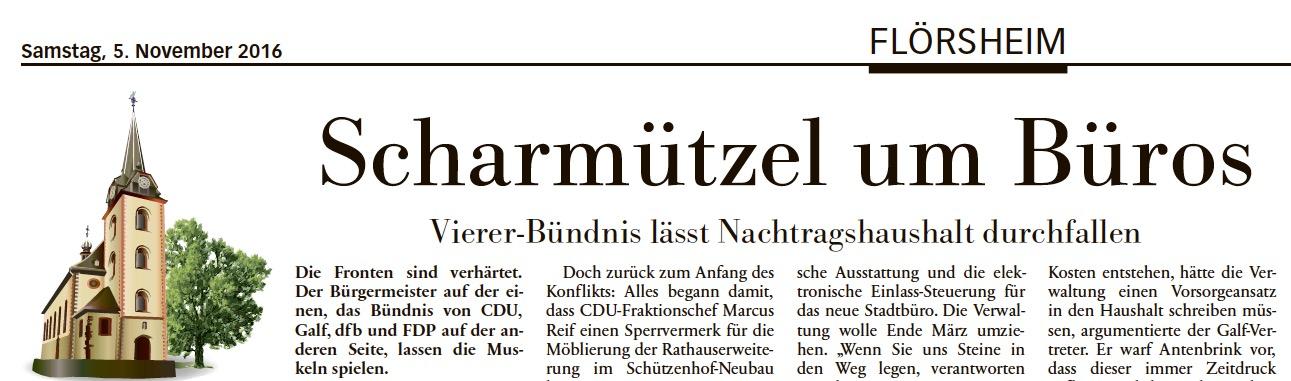 """Höchster Kreisblatt: """"Vierer-Bündnis lässt Nachtragshaushalt durchfallen"""""""