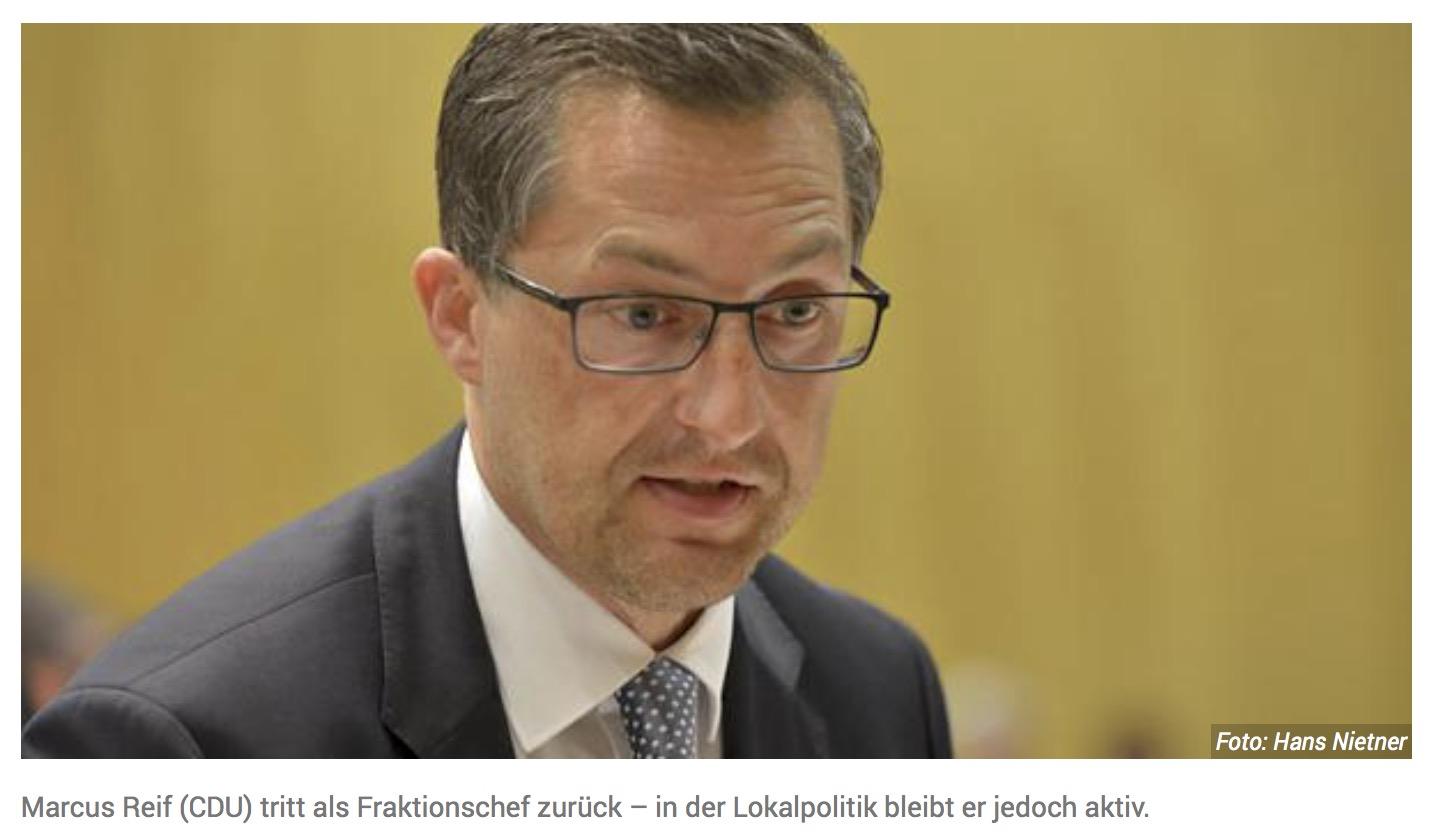 Politik in Flörsheim: Marcus Reif tritt zurück