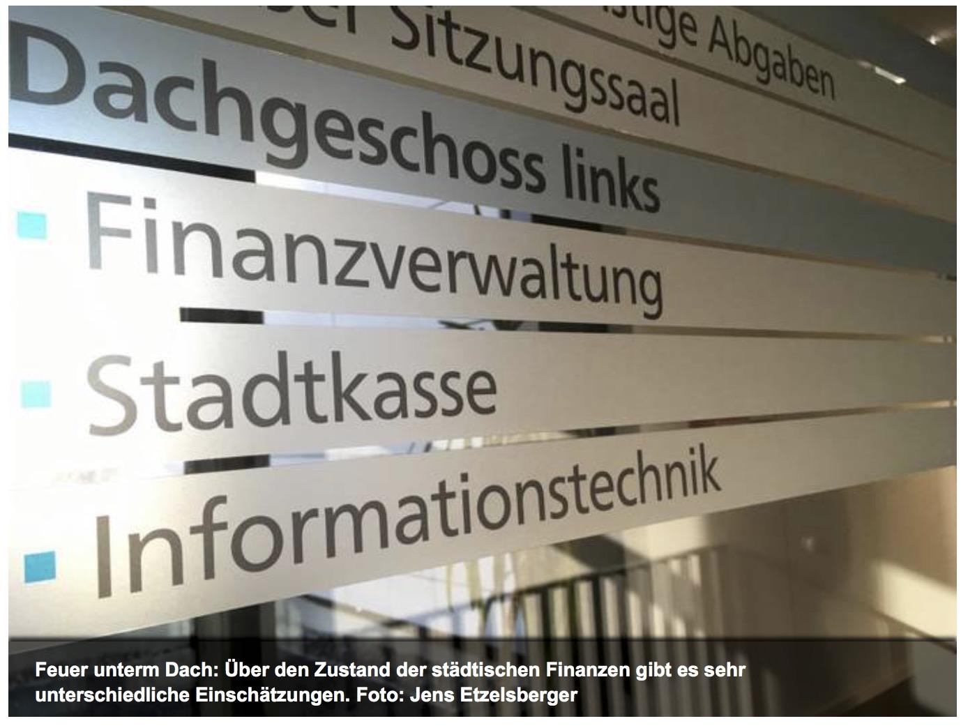 """Haushalt 2018 – Bürgermeister sieht nur kurzfristige Probleme, die CDU nennt es einen """"Offenbarungseid"""""""