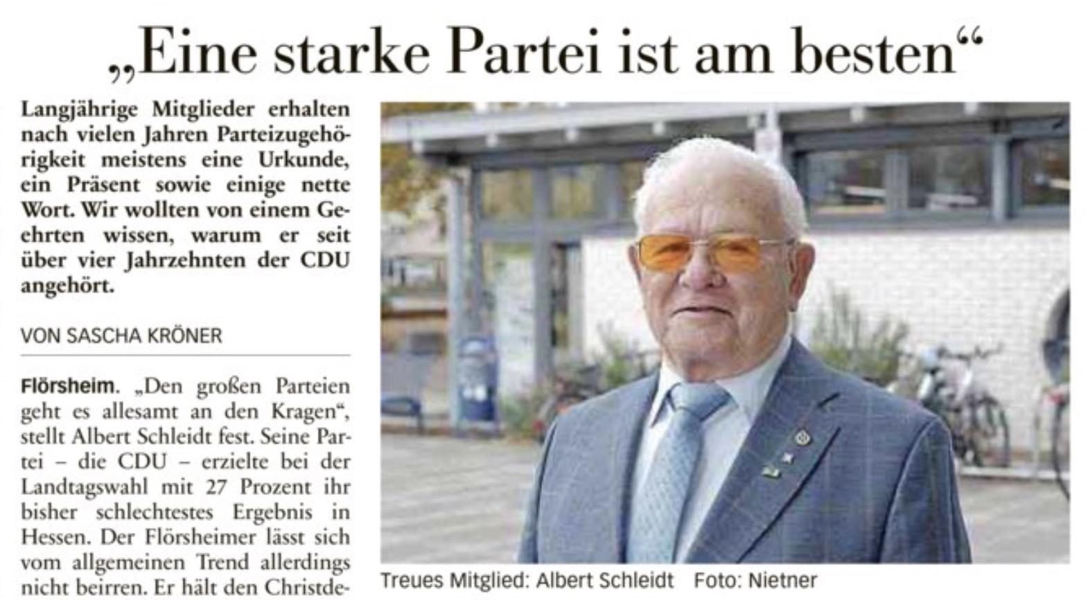 """Höchster Kreisblatt: """"Eine starke Partei ist am besten"""""""