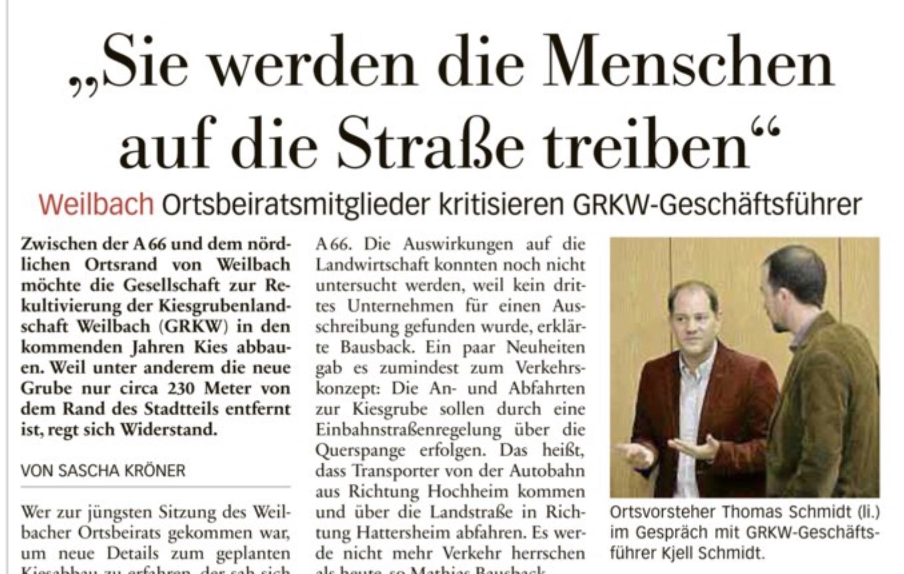"""Höchster Kreisblatt: """"Sie werden die Menschen auf die Straße treiben"""""""