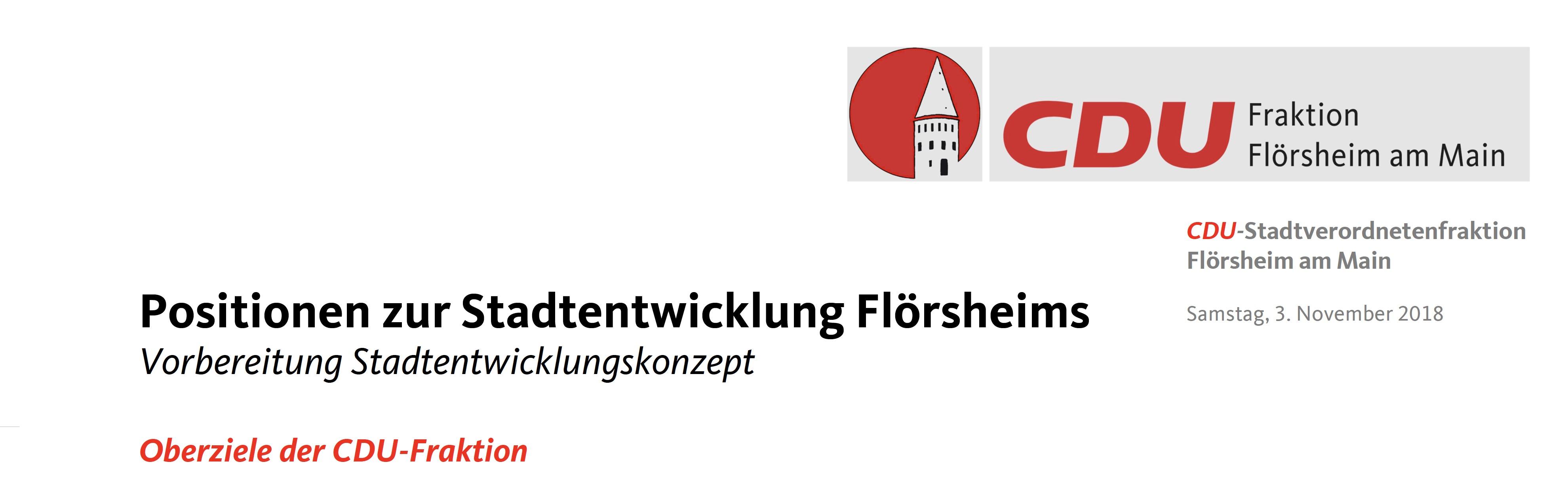 Konkretisierung der Stadtentwicklung Flörsheims bis 2050