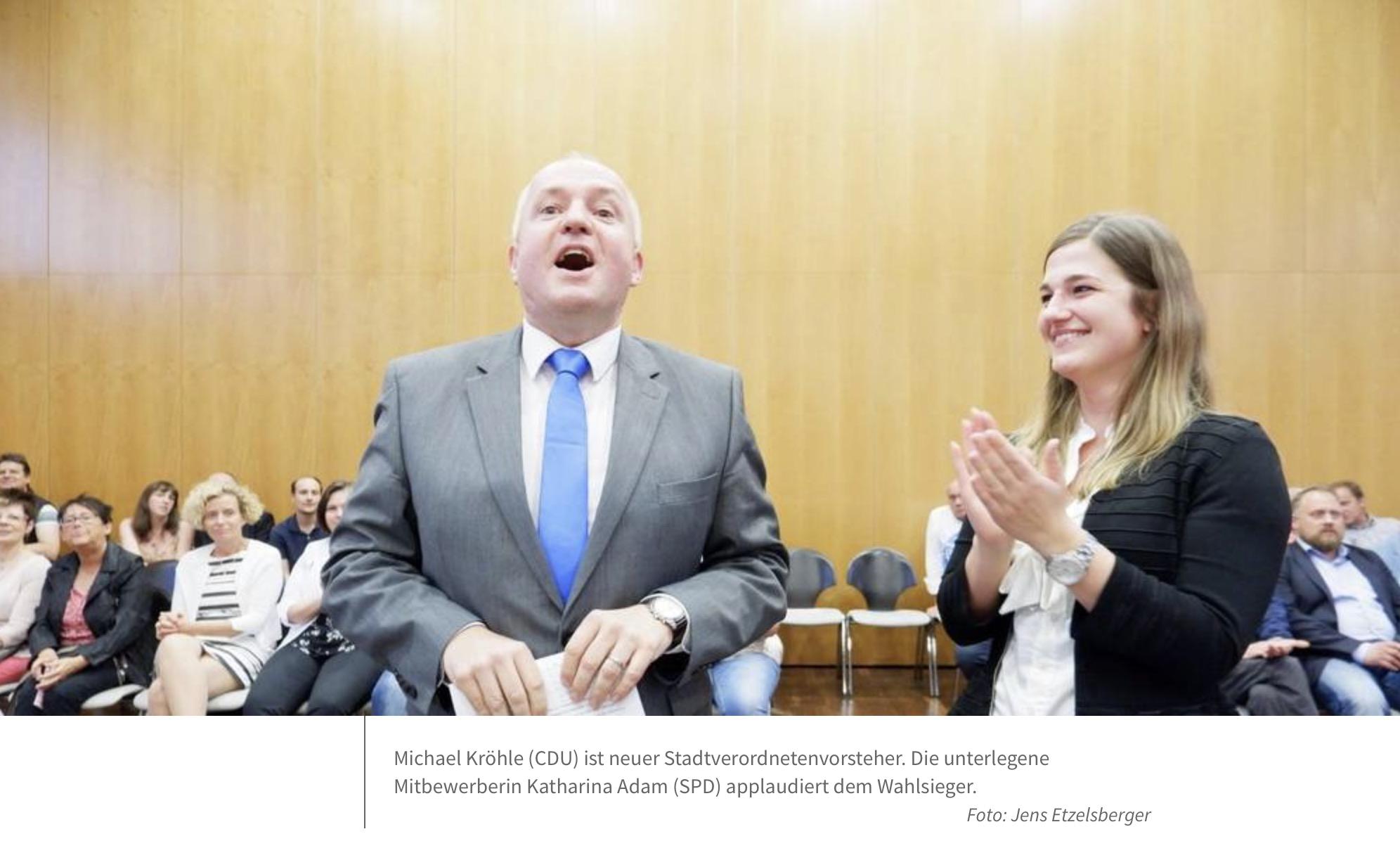Michael Kröhle (CDU) ist neuer Stadtverordnetenvorsteher