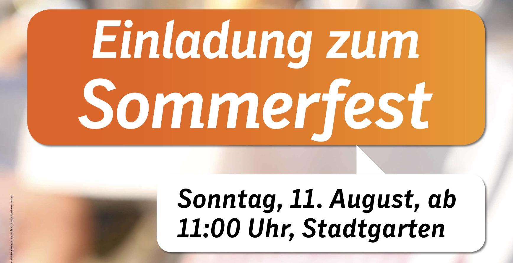 Sommerfest der CDU Flörsheim am Main