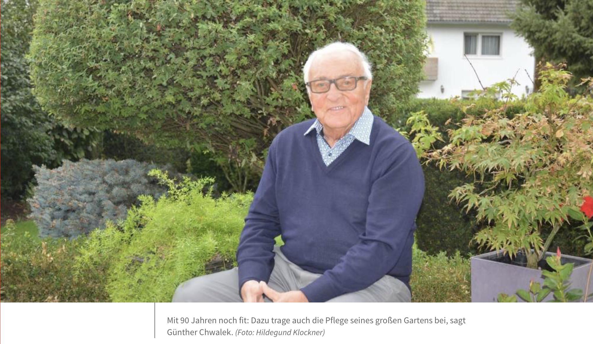 CDU Flörsheim am Main gratuliert Günther Chwalek zum 90. Geburtstag