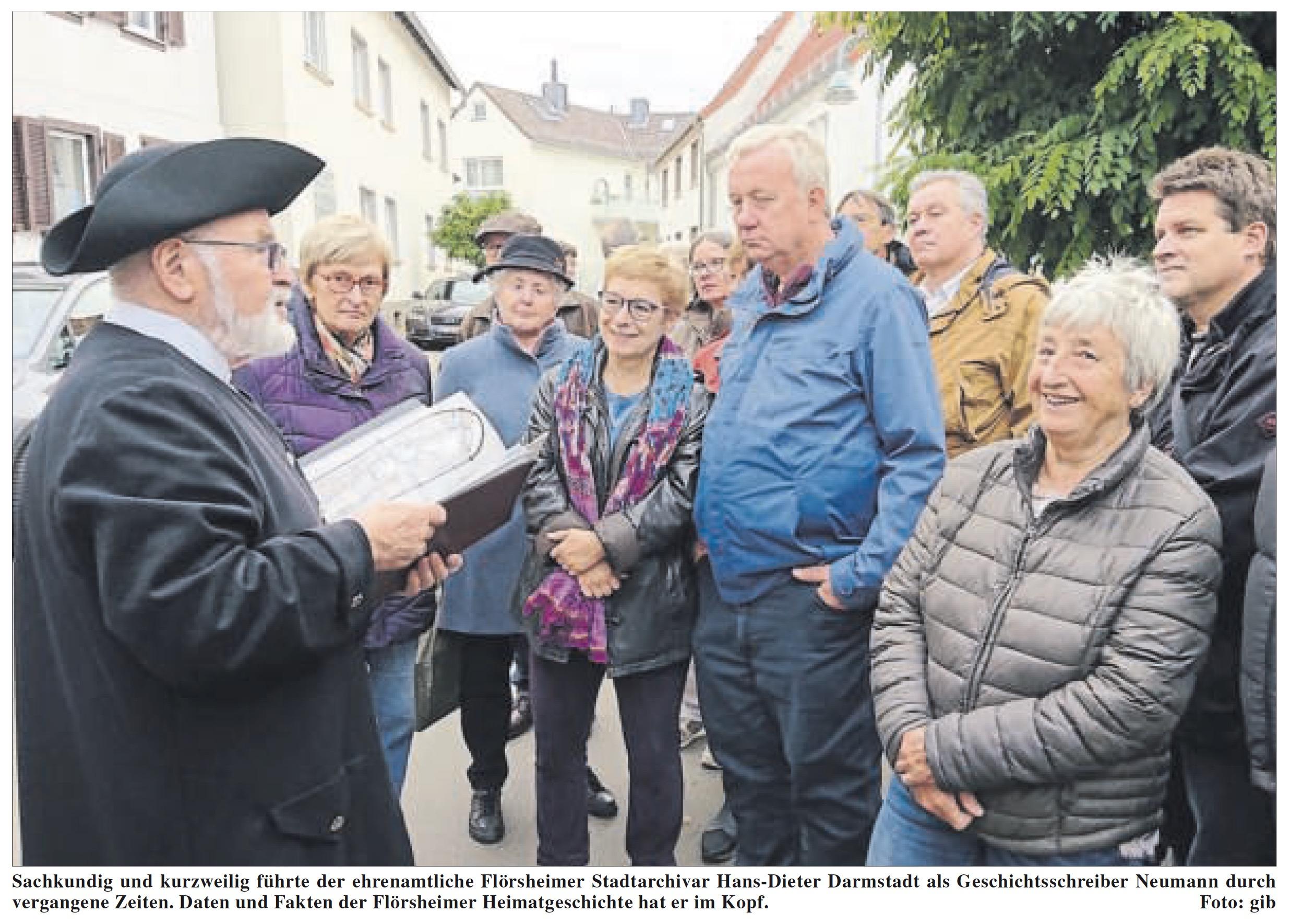 CDU Flörsheim: Im alten Ortskern auf historischen Pfaden unterwegs