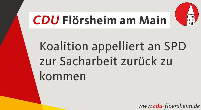 Koalition appelliert an SPD zur Sacharbeit zurückzukommen