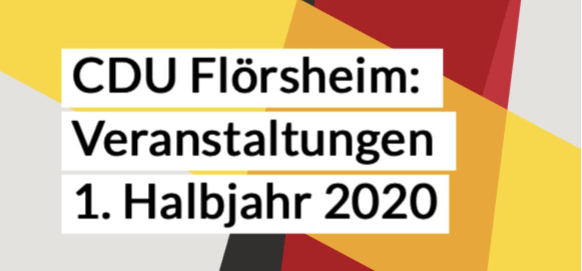 CDU Flörsheim: Veranstaltungen 1. Halbjahr 2020