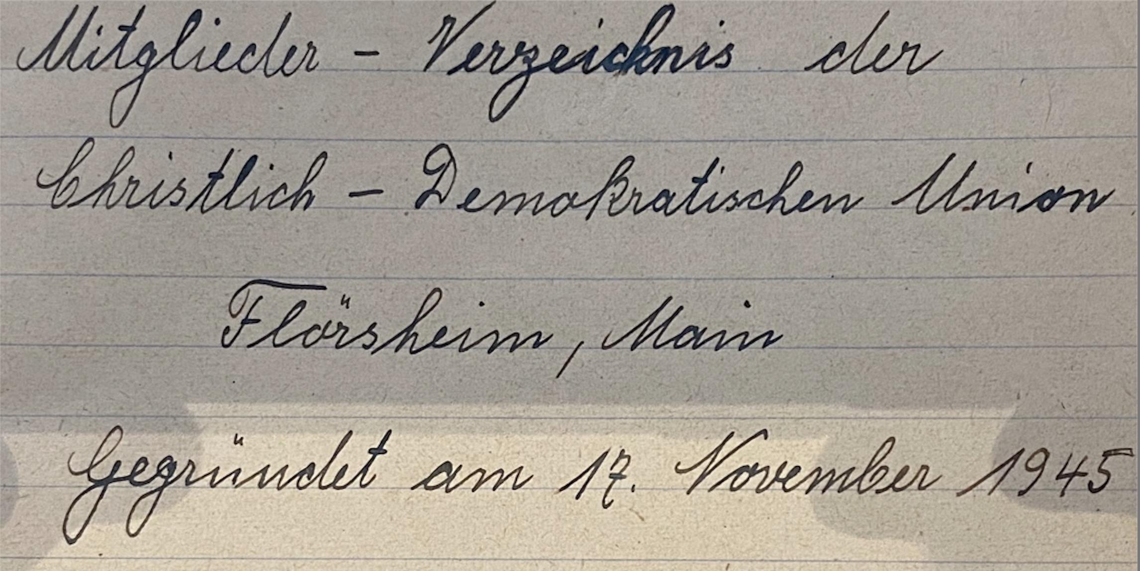 CDU Flörsheim am Main: Wie alles begann in Flörsheim