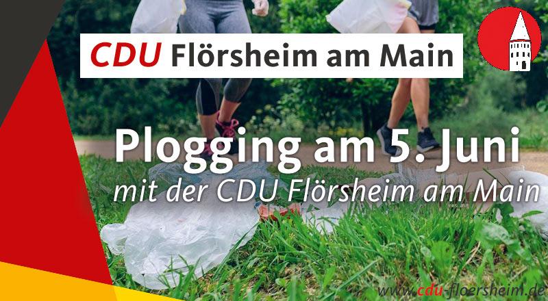 CDU macht Plogging am Weltumwelttag