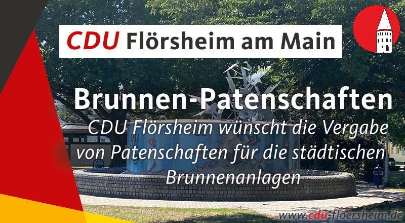 CDU Flörsheim wünscht die Vergabe von Patenschaften für die städtischen Brunnenanlagen