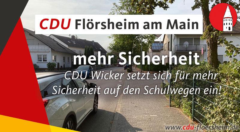 CDU Wicker für mehr Sicherheit auf den Schulwegen