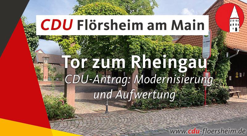 """CDU-Antrag: Modernisierung und Aufwertung des """"Tor zum Rheingau"""""""