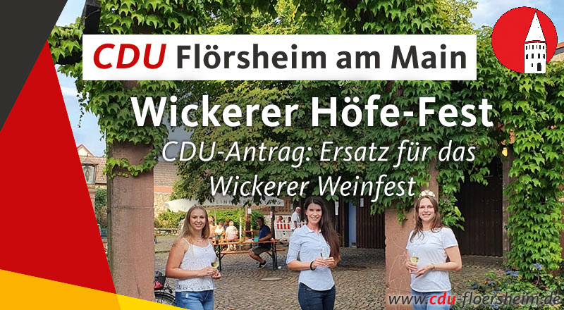 CDU-Antrag: Wickerer-Höfe-Fest als Ersatz für das Wickerer Weinfest