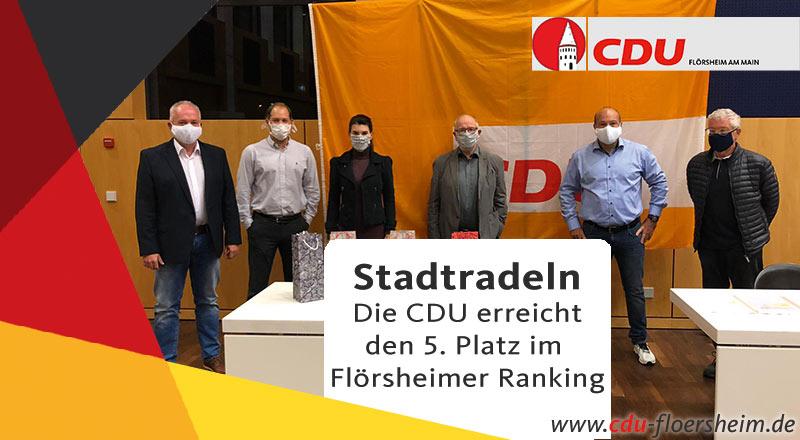CDU zeichnet die Teilnehmer des Stadtradelns aus