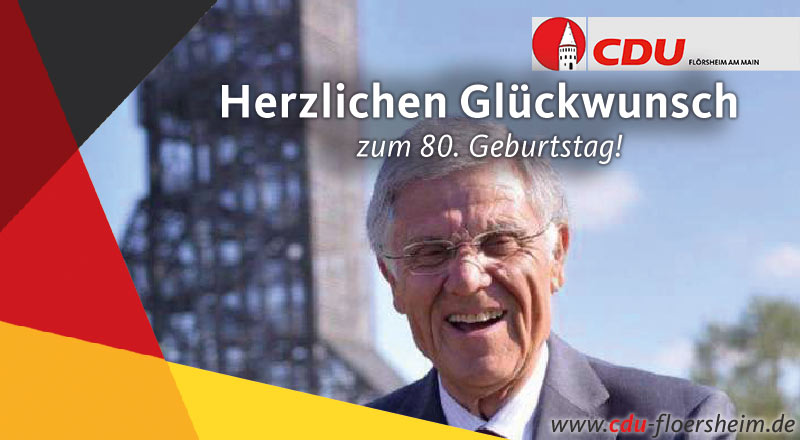 CDU gratuliert Alt-Bürgermeister Dieter Wolf zum 80. Geburtstag