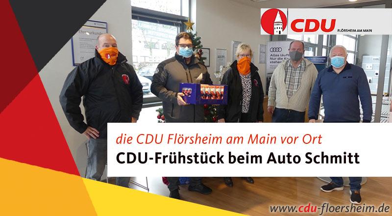 Unternehmerfrühstück der CDU beim Auto Schmitt in Flörsheim