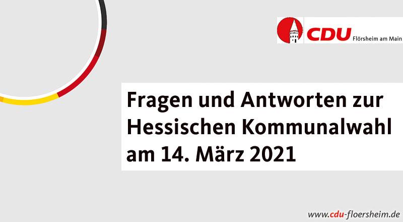 Fragen und Antworten zur Hessischen Kommunalwahl am 14. März 2021