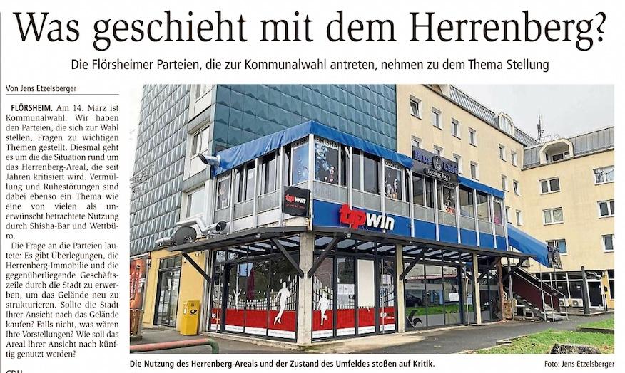 Main-Spitze: Was geschieht mit dem Flörsheimer Herrenberg?