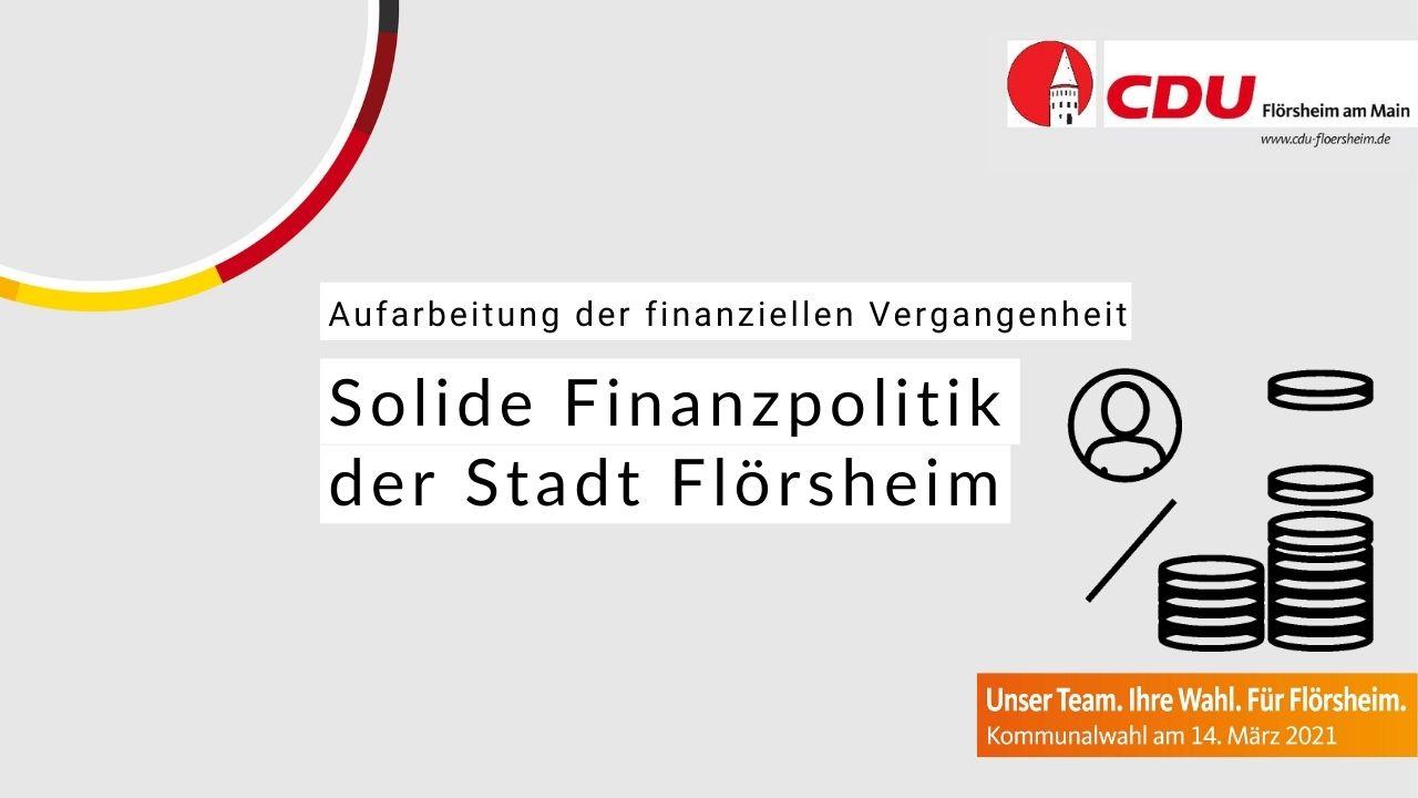 Faktencheck: Solide Finanzpolitik der Stadt Flörsheim
