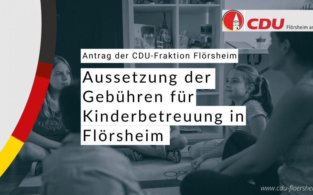 CDU initiiert die Aussetzung der Kinderbetreuungsgebühren für die Zeit des Lockdowns