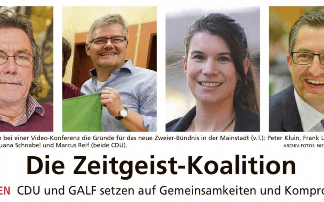 Die Zeitgeist-Koalition: CDU und GALF setzen auf Gemeinsamkeiten und Kompromisse