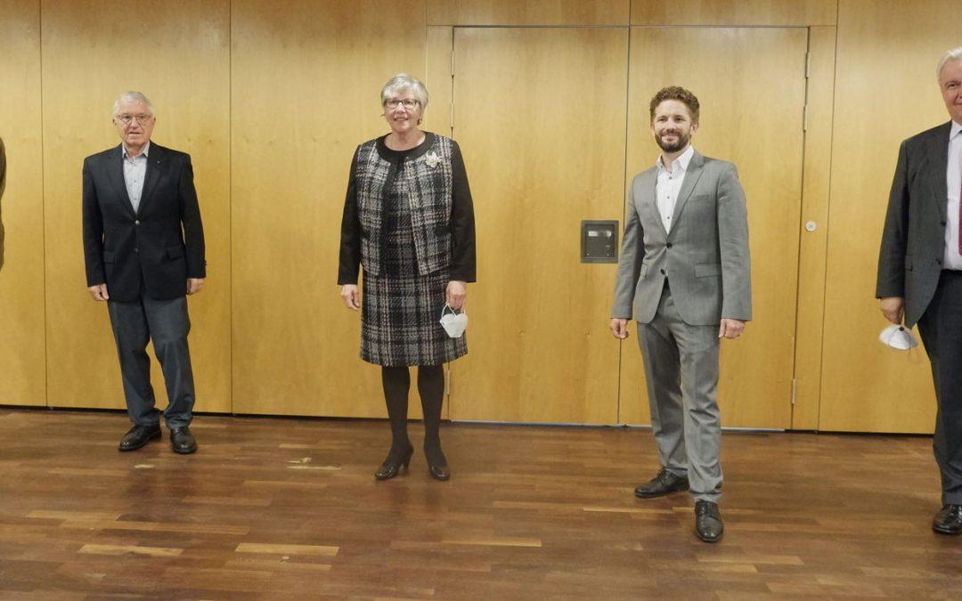 Glückwunsch an die neuen Magistratskollegen
