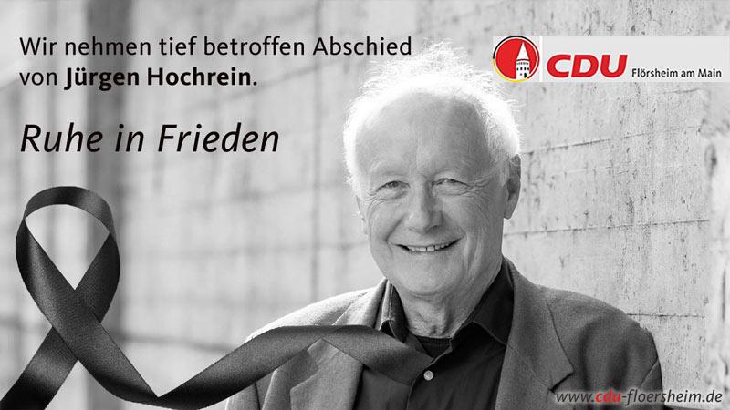 Ein Nachruf auf Jürgen Hochrein
