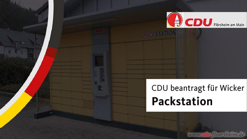 CDU beantragt Packstation für Wicker