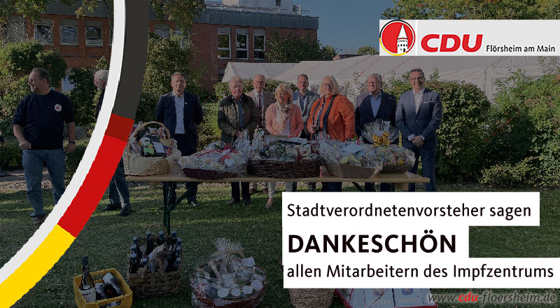 Ein Dankeschön der Kommunen an die Mitarbeiter des Impfzentrums Main-Taunus